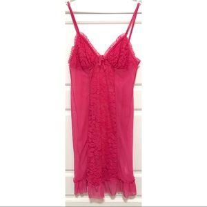 LA VIE EN ROSE Hot Pink Sheer Cami/Nightie